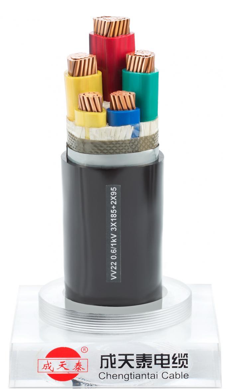 Kern des Niederspannungs-Stromkabels 3+2 0.6/1 KV kupferne ...