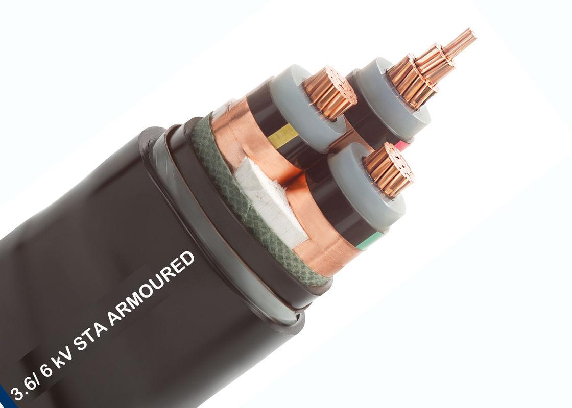 Drei Kern-gepanzertes Kabel, XLPE Leiter der gepanzertes Kabel ...