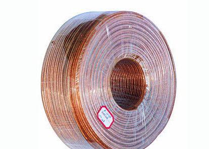Kupfernes Litzendraht-Lautsprecher-Kabel, transparente Hüllen-PVC ...